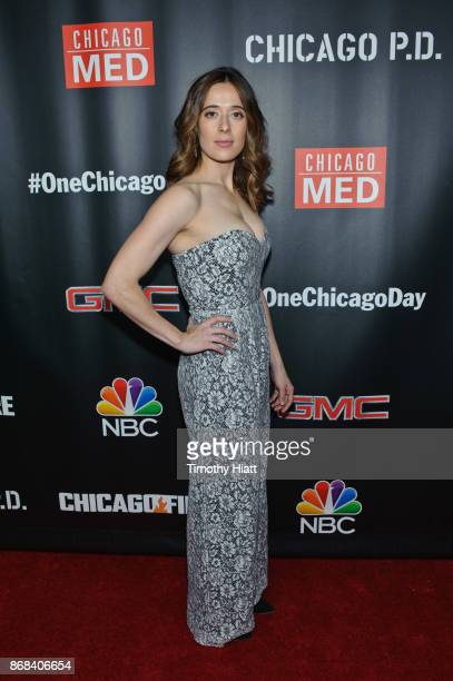 Marina Squerciati attends the One Chicago party during NBC's 'One Chicago' press day on October 30 2017 in Chicago Illinois