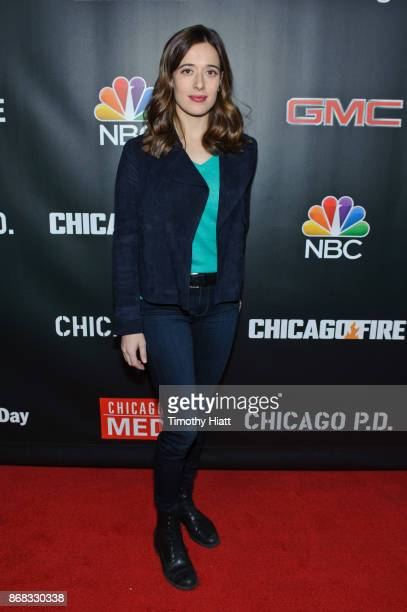 Marina Squerciati attends the press junket for One Chicago on October 30 2017 in Chicago Illinois