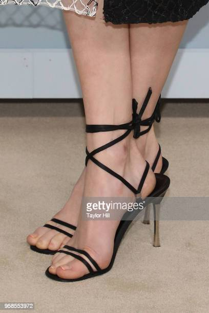 Marina Squerciati shoe detail attends the 2018 NBCUniversal Upfront Presentation at Rockefeller Center on May 14 2018 in New York City