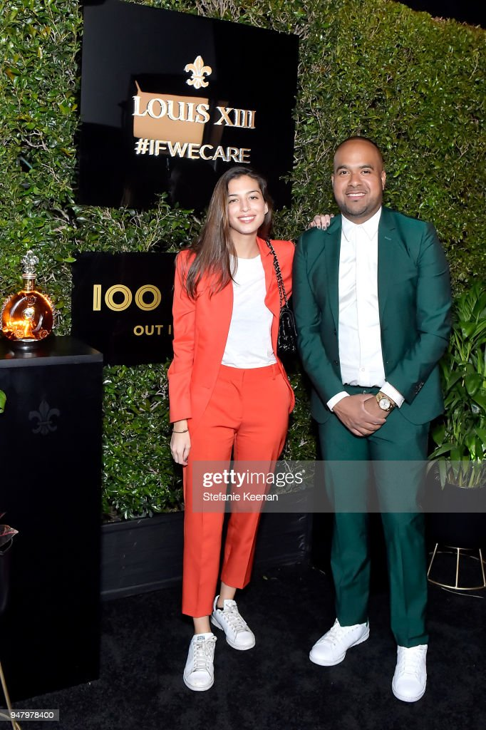 Marina Testino (L) and Hadi Teherani attend LOUIS XIII Cognac Presents '100 Years' - The Song We'll Only Hear #IfWeCare - by Pharrell Williams at Goya Studios on April 17, 2018 in Los Angeles, California.