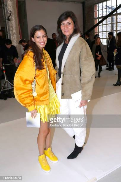 Marina Testino and Journalist Emmanuelle Alt attend the Nina Ricci show as part of the Paris Fashion Week Womenswear Fall/Winter 2019/2020 on March...