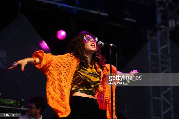 Marina & The Diamonds performing at Glastonbury Festival 2010