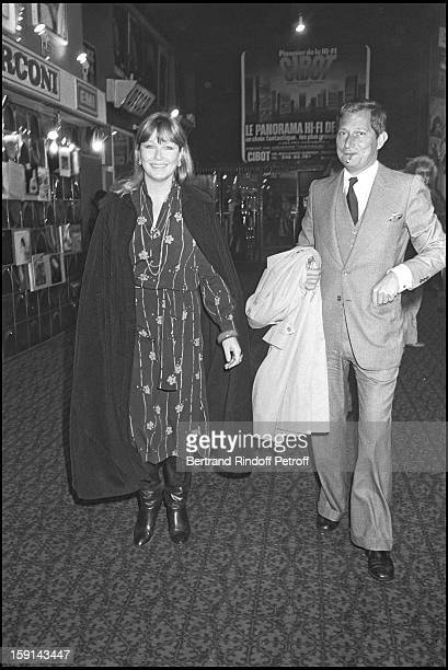 Marina Vlady and Jacques Ourevitch attend a concert of George Moustaki in Paris in 1979