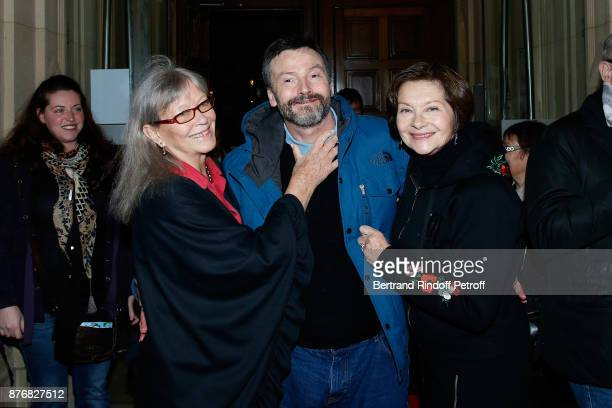 Marina Vlady Bruno Finck and Macha Meril attend the Tribute to JeanClaude Brialy for the 10th anniversary of his death Held at Centre National du...