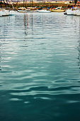 marina water surface with ripple reflection