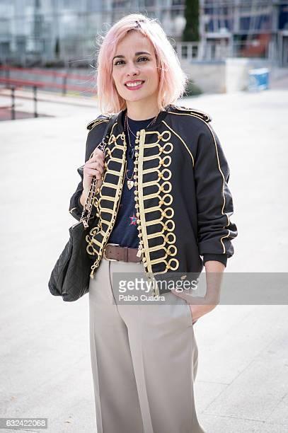 Marina wears Chloe trousers Bimba y Lola pullover and La Condesa jacket on January 22 2017 in Madrid Spain