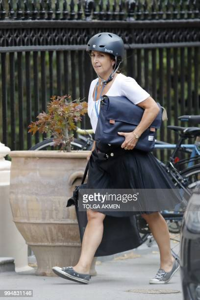 Marina Wheeler British lawyer and the wife of Britain's Foreign Secretary Boris Johnson arrives at the official residence of the Foreign Secretary at...