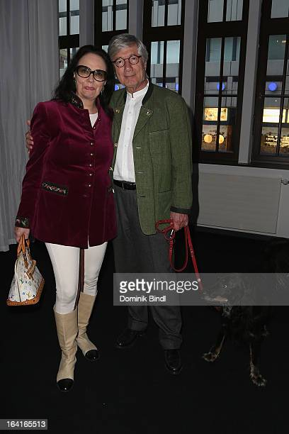 Marina Wolff and Christian Wolff attend the Ndf Afterwork Party at 8 Seasons on March 20 2013 in Munich Germany