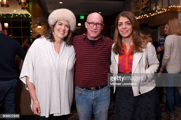 Marina Zenovich Alex Gibney and Nancy Abraham attend 2018 HBO Documentary Films Party At Sundance 2018 during the 2018 Sundance Film Festival at...