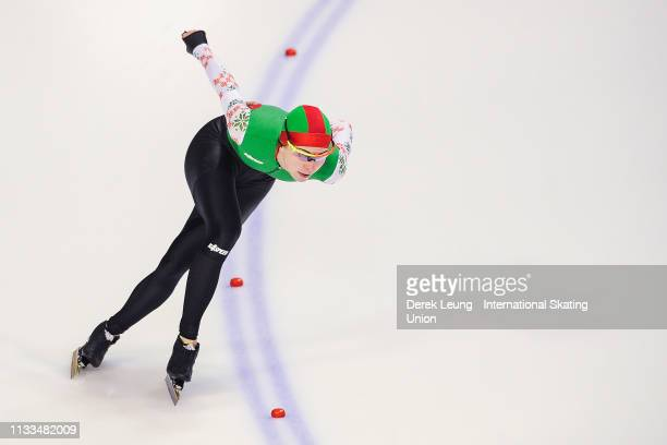 Marina Zueva skates in the ladies 1500m during the ISU World Allround Speed Skating Championships Calgary on Day 2 at the Olympic Oval on March 3...