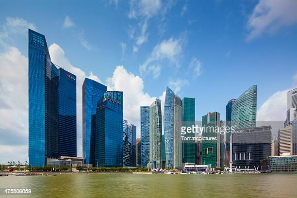 marinal bay financial centre - stock image - standard chartered bank stock pictures, royalty-free photos & images