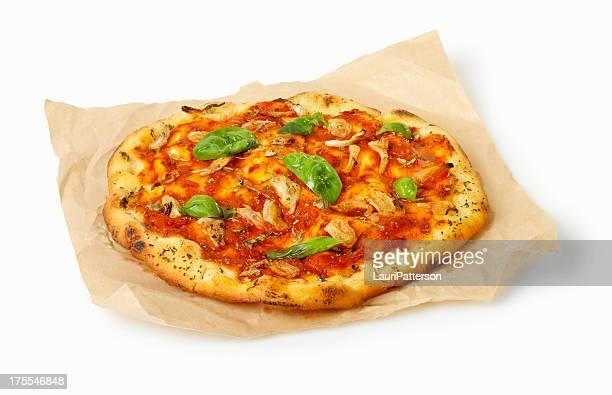 pizza alla marinara - pizza margherita foto e immagini stock