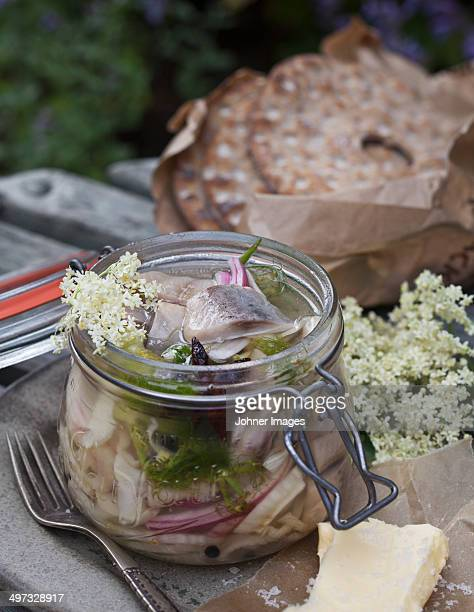 Marinated herring in jar, Sweden