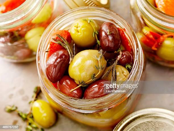 marinated olives - kalamata olive stock pictures, royalty-free photos & images