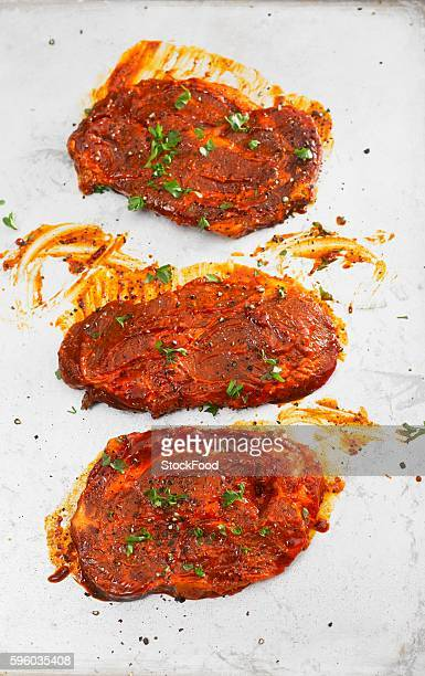 Marinated steaks