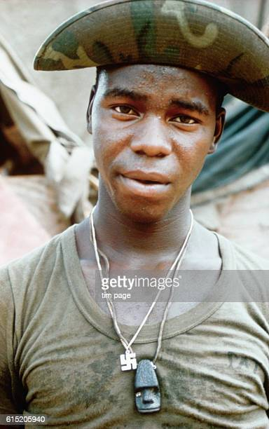 A US marine after a 6day patrol in the Dunang region of Vietnam