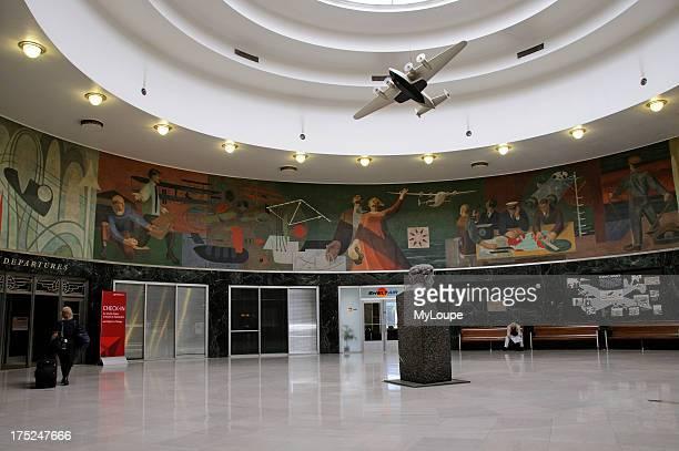 Marine Air Terminal an art deco hstoric building La Guardia Airport in Queens New York USA