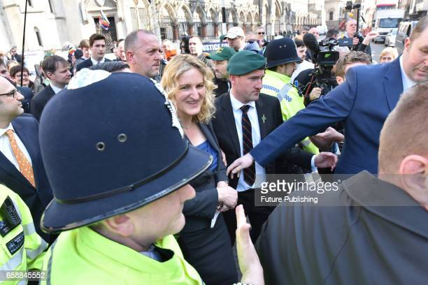 Marine A's wife Claire Blackman at Royal Courts of Justice on March 28 2017 in London England A Royal Marine convicted of killing a wounded Taliban...
