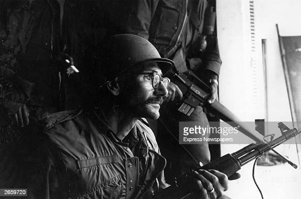 A US marine at the Forward Command Post in Hue