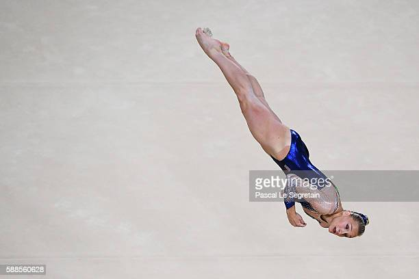 Marine Brevet of France competes on the floor on Day 6 of the Rio 2016 Olympic Games at the Rio Olympic Arena on August 11 2016 in Rio de Janeiro...
