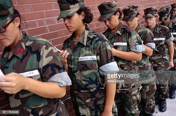 Marine Cadets Standing in Line