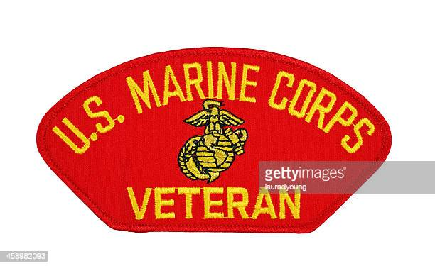 us marine corp veteran patch - us marine corps stock pictures, royalty-free photos & images