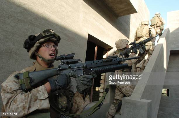 S Marine Corporal Christopher DeBlanc from Spotsylvania Virginia of the 1st Light Armored Reconnaissance company as part of 1st Battalion 3rd Marines...