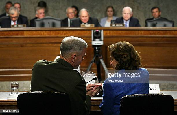 S Marine Corps Gen James Amos thanks for Sen Kay Hagan for her introduction during his confirmation hearing before the Senate Armed Services...