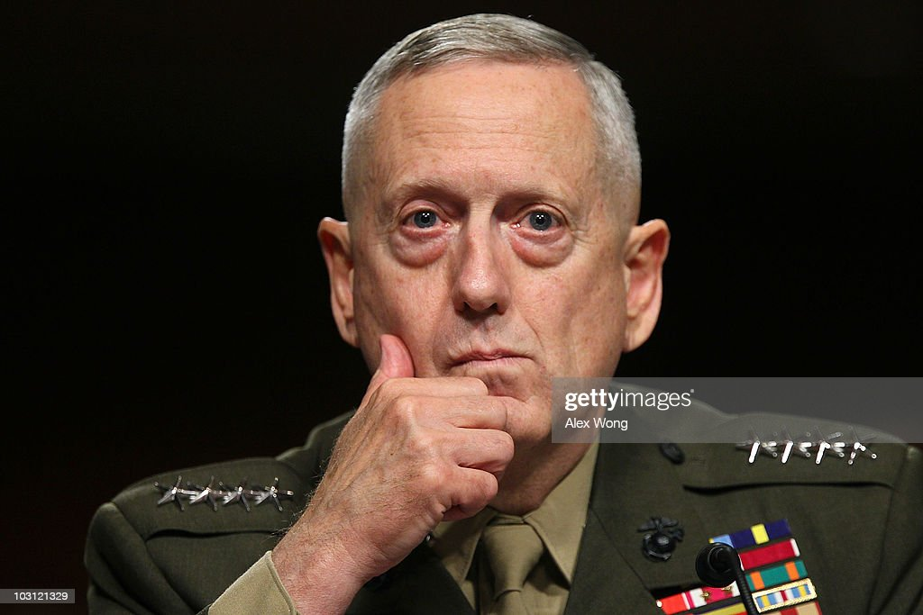 Gen. James Mattis Attends Confirmation Hearing To Head US Central Command : News Photo