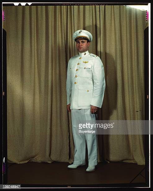 Marine Corps Major in dress white uniform World War II 1943