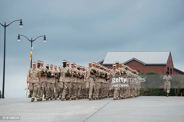 u.s. marine corps - military training stock pictures, royalty-free photos & images