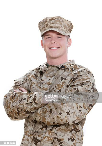 u s marine corps soldier portrait - us marine corps stock pictures, royalty-free photos & images