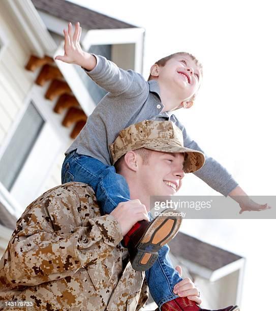 U S Marine Corps Soldier & Son Outdoor