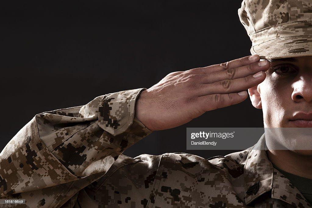 US Marine Corps Solider Portrait : Stock Photo