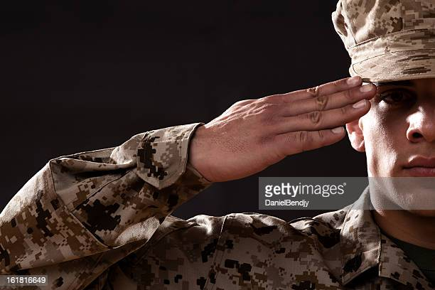 us marine corps solider portrait - marines military stock photos and pictures