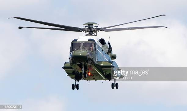 Marine Corps VH92 helicopter manufactured by Sikorsky and Lockheed Martin to serve as the new Marine One helicopter beginning in 2020 takes off from...