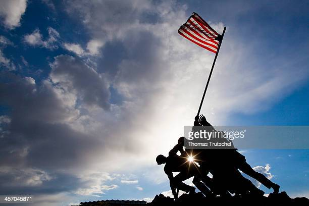 Marine Corps War Memorial also called the Iwo Jima Memorial on April 11 in Arlington United States Photo by Thomas Trutschel/Photothek via Getty...