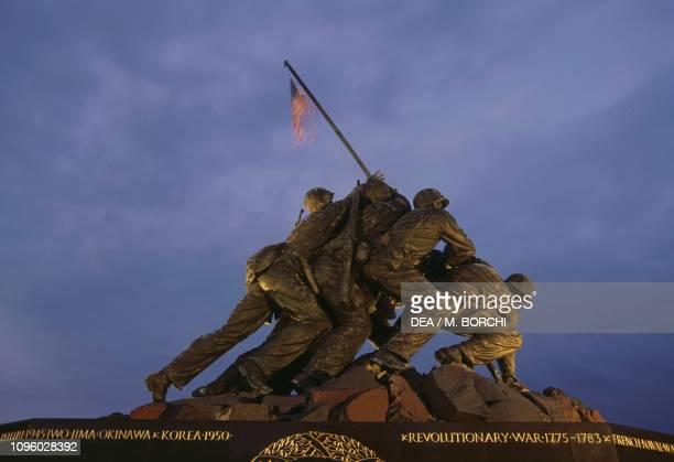 Marine Corps War Memorial also known as Iwo Jima Memorial by Felix Weihs de Weldon Arlington Ridge Park Virginia United States of America 20th century