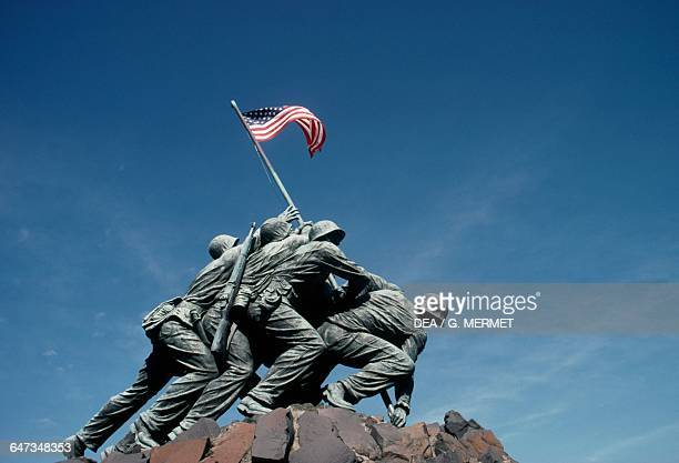 Marine Corps War Memorial also known as Iwo Jima Memorial by Felix Weihs de Weldon Arlington Ridge Park Virginia United States of America