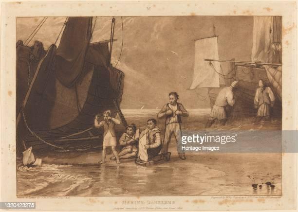 Marine Dabblers, published 1811. Artist JMW Turner, William Say.