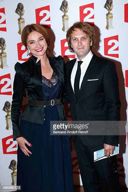 Marine Delterme and Florian Zeller attend the 26th Molieres Awards Ceremony at Folies Bergere on June 2 2014 in Paris France