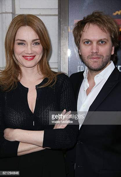 Marine Delterme and Florian Zeller attend the Broadway Opening Night performance of 'The Father' at The Samuel J Friedman Theatre on April 14 2016 in...