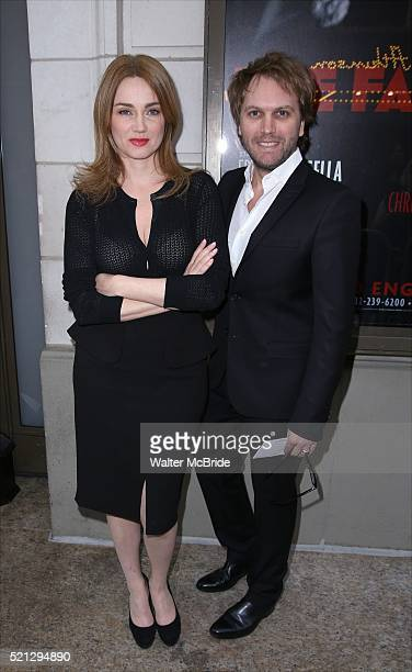 Marine Delterme and Florian Zeller attend the Broadway Opening Night performance of 'The Father' at The Samuel J. Friedman Theatre on April 14, 2016...