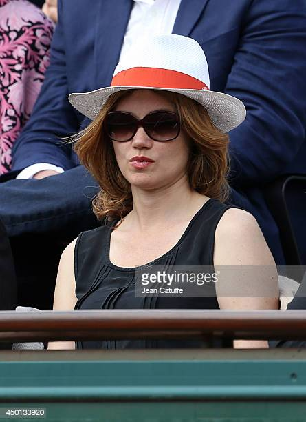Marine Delterme attends Day 12 of the French Open 2014 held at Roland-Garros stadium on June 5, 2014 in Paris, France.