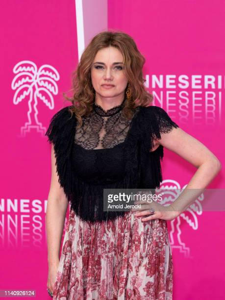 Marine Delterme attends day two of the 2nd Canneseries International Series Festival, on April 06, 2019 in Cannes, France.