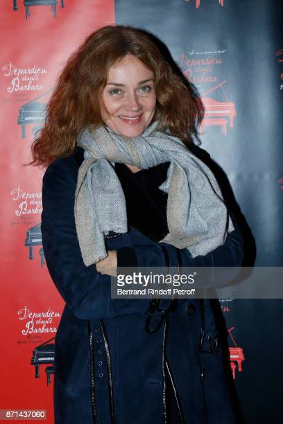 Marine Delterme attends Depardieu Chante Barbara at Le Cirque d'Hiver on November 6 2017 in Paris France