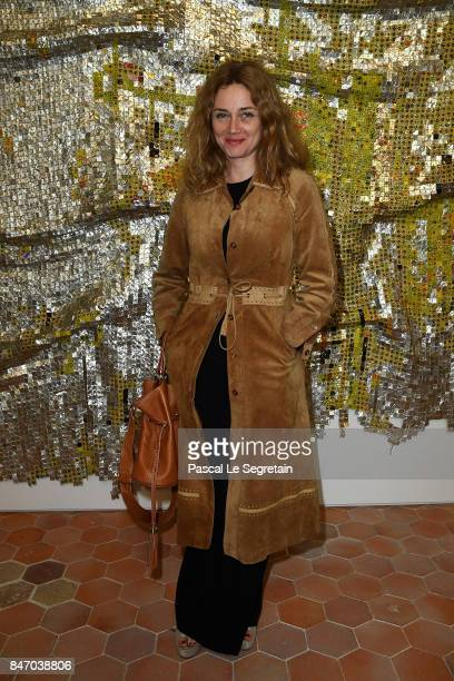 Marine Delterme attends exhibition 'Faire Avec' works from the Pinault Collection at 40 Rue de Sevres on September 14 2017 in Paris France