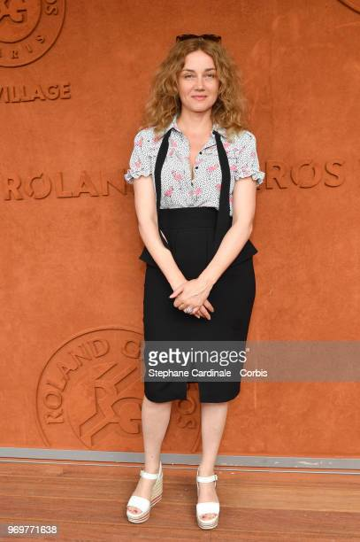 Marine Delterme attends the 2018 French Open Day Thirteen at Roland Garros on June 8 2018 in Paris France