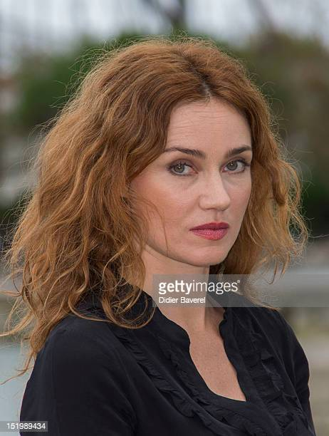 Marine Delterme poses during the 'Berthe Morisot' Photocall at La Rochelle Fiction Television Festival on September 14 2012 in La Rochelle France