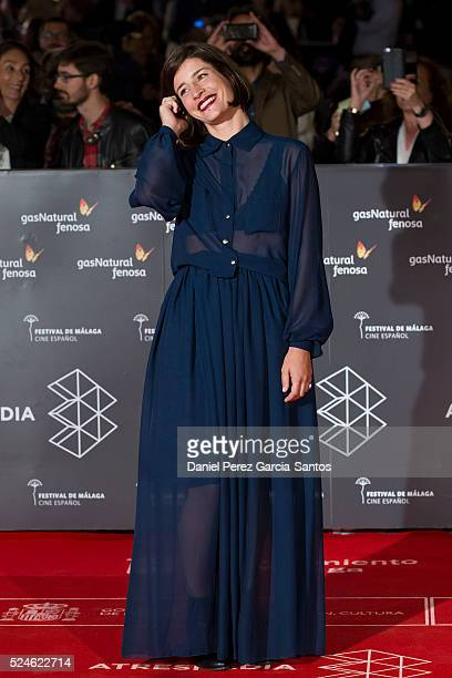 Marine Discazeaux attends 'Julie' premiere during the 19th Malaga Film Festival on April 26 2016 in Malaga Spain